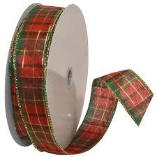 tartan vs plaid morex ribbon splendor wired plaid fabric ribbon 1 1 2 inch by 50