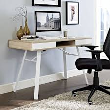 Home Office Desk Oak by Amazon Com Modway Stir Office Desk In Oak Kitchen U0026 Dining