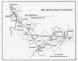 A Map Of Massachusetts by Mary Rowlandson U0027s Captivity Journey Map