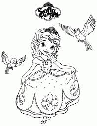 sofia the first coloring page to invigorate in coloring images