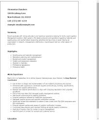 Entry Level Chemist Resume Professional Entry Level Logistics Management Templates To