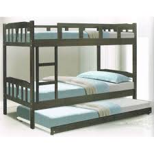 Bed With Pull Out Bed Twin Single Size Bunk Bed Black With Pull Out Lazada Malaysia