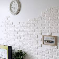 60x60cm pe foam 3d wall stickers safety home decor wallpaper diy