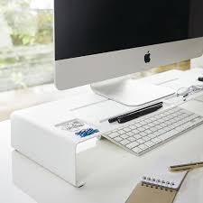 support ecran pc pour bureau réhausseur d écran organiseur de bureau monitor stand tower