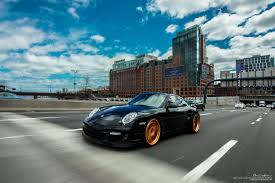 porsche black porsche 997 turbo brixton forged wheels