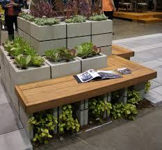Outdoor Planter Ideas by Bench Beautiful Wooden Bench Seat Garden And Patio Beautiful