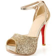 wedding shoes platform gold heels for wedding qu heel