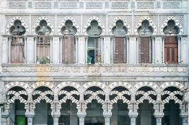 moorish architecture distinctive moorish architecture havana cuba stock photo