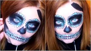 skull halloween makeup tutorial pop of color youtube