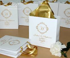 personalized wedding welcome bags 30 wedding welcome bags for wedding guests with gold satin