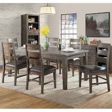 Distressed Dining Room Table Glenwood 7 Rustic Solid Wood Distressed Dining Set