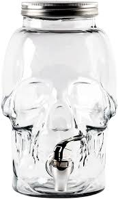 halloween drink dispenser amazon com glass skull halloween beverage dispenser 1 gallon