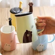 ceramic coffee mug and spoon set apollobox