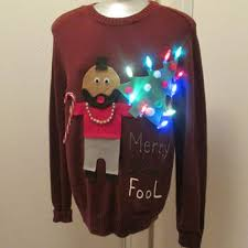 sweater sayings hilarious sweater lights up mr t saying merry