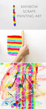 rainbow scrape painting art colorful and easy art for kids watch