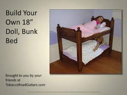 Build Your Own Bunk Beds Diy by Doll Bunk Bed Plans Bed Plans Diy U0026 Blueprints