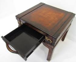 quirky end tables leather suitcase end table home table decoration