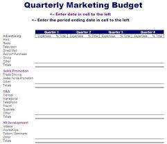 quarterly marketing budget template free layout u0026 format