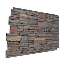 stone design faux flat stacked stone paneling