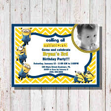 diy minion invitations minion birthday party invitations templates 4birthday info