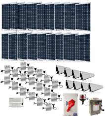 5 4kw grid tie solar power system with microinverters alte
