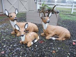 concrete deer lawn ornaments vintage arts furnishings garden
