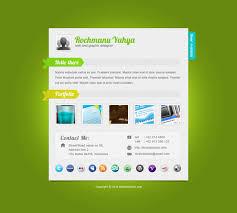 freebie elegant green one page vcard psd template