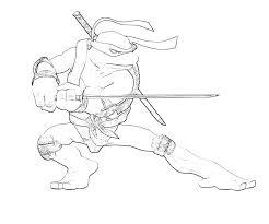 teenage mutant ninja turtles coloring pages leonardo