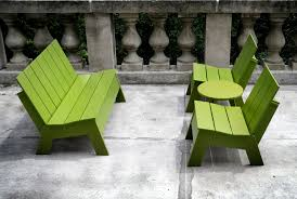 Recycled Plastic Furniture Public Bench Garden Contemporary Recycled Plastic Picket