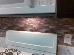 kitchen backsplash stick on backsplash peel and stick mosaic wall tile installation