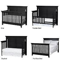 Black 4 In 1 Convertible Crib Baby Cache Overland 4 In 1 Convertible Crib Forever Black