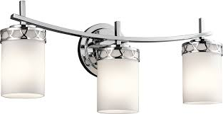 Chrome Bathroom Vanity Light Fixtures by Chrome Led 3 Light Bathroom Vanity Light Fixture Kic 45586chl16