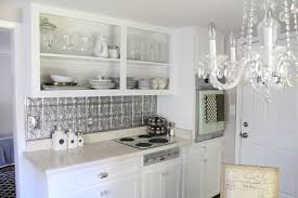 Kitchen Tin Backsplash Inexpensive Faux Tin Backsplash Elizabeth Burns Design Raleigh