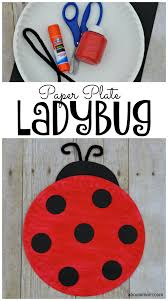paper plate ladybug craft for kids about a mom
