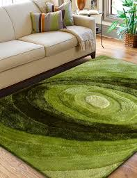inviting faux animal skin furry rug in pleasant living room