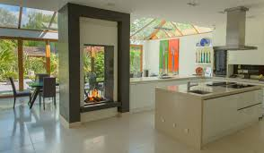 Traditional Double Sided Kitchen Double Sided Fireplace Aytsaid Com Amazing Home Ideas