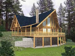 log home floor plans with basement plan 35122gh log home escape basements logs and porch