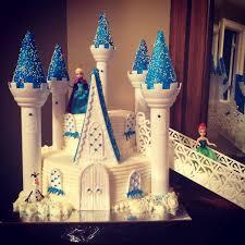 frozen birthday cake using the wilton castle cake pan set elsa