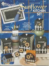 sunflower kitchen canisters plastic canvas pattern sunflower kitchen set the needlecraft