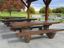 round cement picnic tables concrete planters cement site furnishings ornamental stone inc