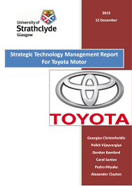 Strategic Technology Management For Toyota