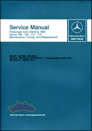 mercedes 111 shop service manuals at books4cars com