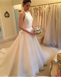 bridal gowns online ivory wedding dresses halter open back wedding dress wedding gowns