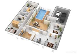 house planner cool 3d rectangular house floor plan come with modern house planner