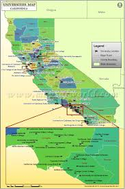 Santa Barbara California Map Map Of Universities In California List Of Colleges And