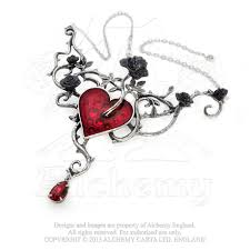 gothic heart necklace images Bed of blood roses heart necklace alchemy gothic dark romance jpg