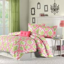 buy green and coral bedding from bed bath u0026 beyond