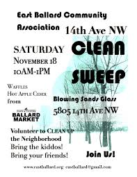 ebca east ballard community association join us as we clean up 14th ave nw and tidy up the medians and planters waffles coffee and hot apple cider donated by the ballard market will be on hand