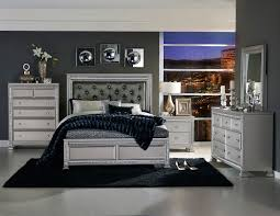 Black And Silver Bed Set Homelegance Bevelle Button Tufted Upholstered Bedroom Set Silver