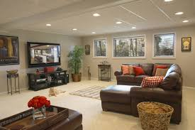 interior small basement room ideas partially finishing a